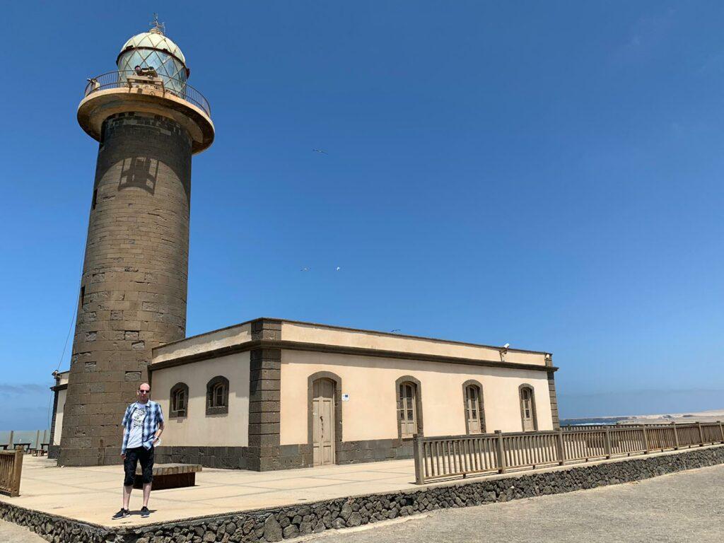Der 19 Meter hohe Leuchtturm von Punta Jandia